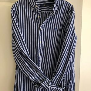 Ralph Lauren blue striped button down